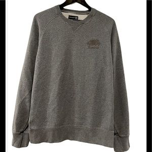 ROOTS Canada Grey Pullover Fleece Sweater size L